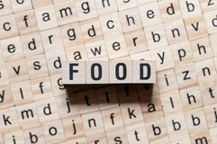 Λέξη τροφίμων conceot στοκ φωτογραφία