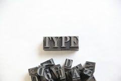 Λέξη τύπων μετάλλων με το δωμάτιο για το κείμενο Στοκ Εικόνες