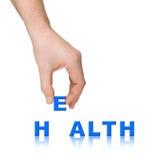 λέξη υγείας χεριών Στοκ Φωτογραφίες
