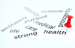 Λέξη υγείας Στοκ εικόνα με δικαίωμα ελεύθερης χρήσης