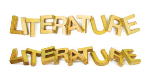 Λέξη φιαγμένη ξύλινες επιστολές που απομονώνονται από Στοκ Φωτογραφίες