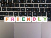 Λέξη φιλική στο υπόβαθρο πληκτρολογίων Στοκ Εικόνες
