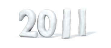 λέξη χιονιού του 2011 Διανυσματική απεικόνιση