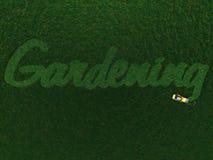 λέξη χλόης κηπουρικής απο διανυσματική απεικόνιση