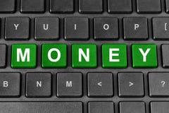 Λέξη χρημάτων στο πληκτρολόγιο Στοκ Φωτογραφία