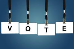 Λέξη ψηφοφορίας Στοκ εικόνες με δικαίωμα ελεύθερης χρήσης