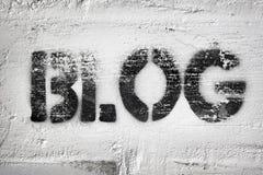 Λέξη Blog στοκ φωτογραφία με δικαίωμα ελεύθερης χρήσης