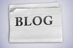 Λέξη Blog Στοκ Εικόνα