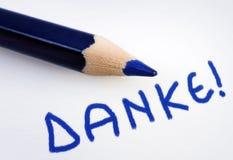 Λέξη Danke Στοκ Φωτογραφίες