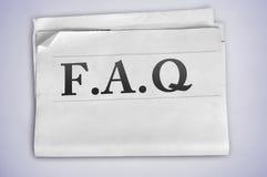 Λέξη FAQ Στοκ εικόνες με δικαίωμα ελεύθερης χρήσης