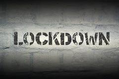 Λέξη GR Lockdown στοκ εικόνες με δικαίωμα ελεύθερης χρήσης