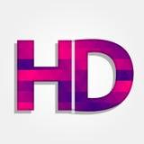 Λέξη HD με τα ζωηρόχρωμα τρίγωνα Στοκ εικόνες με δικαίωμα ελεύθερης χρήσης