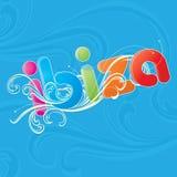 λέξη ibiza Στοκ εικόνες με δικαίωμα ελεύθερης χρήσης
