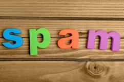 Λέξη SPAM Στοκ φωτογραφίες με δικαίωμα ελεύθερης χρήσης