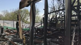 Λέσχη ζημίας πυρκαγιάς απόθεμα βίντεο