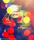 Λέσχη νύχτας μουσικής του DJ, υπόβαθρο του DJ αστεριών μουσικής Στοκ εικόνες με δικαίωμα ελεύθερης χρήσης
