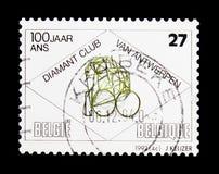 Λέσχη Antwerpen, διαμαντιών επέτειος 100, serie, circa 1992 Στοκ φωτογραφία με δικαίωμα ελεύθερης χρήσης