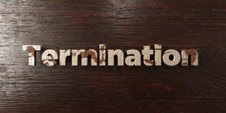 Λήξη - βρώμικος ξύλινος τίτλος στο σφένδαμνο - τρισδιάστατο δικαίωμα ελεύθερη εικόνα αποθεμάτων απεικόνιση αποθεμάτων