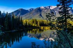 Λήφθείτε κατά μήκος του ποταμού τόξων, εθνικό πάρκο Banff, Αλμπέρτα, Καναδάς Στοκ Εικόνες