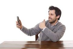 Λήψη ενός selfie Στοκ Εικόνα