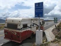 Λήψη του δρόμου στο motorhome Στοκ Φωτογραφίες