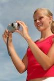 λήψη φωτογραφιών κοριτσιών Στοκ Εικόνες