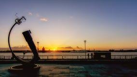 Λίβερπουλ - ηλιοβασίλεμα προκυμαιών Στοκ φωτογραφίες με δικαίωμα ελεύθερης χρήσης
