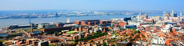 Λίβερπουλ, UK Εναέρια άποψη κεντρικός Στοκ Εικόνα