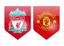 Λίβερπουλ εναντίον της Manchester United Στοκ Εικόνες