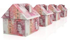 Λίβρες σπιτιών χρημάτων στοκ εικόνες
