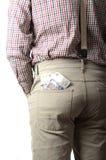 Λίβρες στην τσέπη σας Στοκ Εικόνες