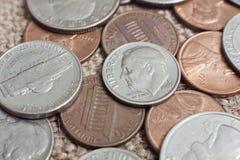 Λίγα αμερικανικά νομίσματα Στοκ Εικόνες