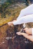 Λίγα πόδια στο νερό Στοκ Φωτογραφίες