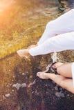 Λίγα πόδια στο νερό Στοκ Εικόνες