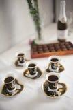 Λίγα φλιτζάνια του καφέ Στοκ Εικόνες