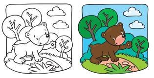 Λίγα teddy αντέχουν το χρωματίζοντας βιβλίο απεικόνιση αποθεμάτων