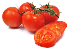 λίγες νόστιμες ντομάτες Στοκ Φωτογραφία