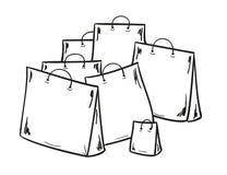 Λίγες τσάντες για τις αγορές Στοκ εικόνα με δικαίωμα ελεύθερης χρήσης