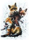 Λίγη αλεπού διανυσματική απεικόνιση