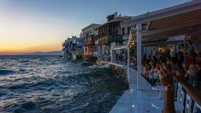 Λίγη Βενετία της Μυκόνου Στοκ φωτογραφίες με δικαίωμα ελεύθερης χρήσης