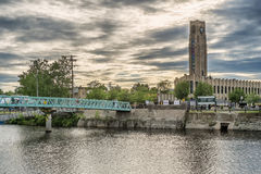 Λίγη γέφυρα στην αγορά Atwater Στοκ Φωτογραφίες