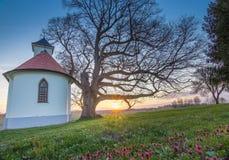Λίγη εκκλησία κοντά σε Vinkovci Στοκ Εικόνα