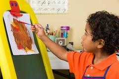 Λίγη ζωγραφική παιδιών Στοκ Φωτογραφίες
