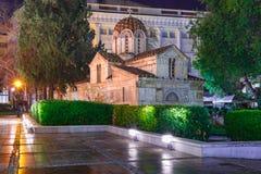 Λίγη μητρόπολη της Αθήνας, Ελλάδα στοκ εικόνα