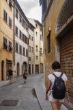 Λίγη οδός στη Φλωρεντία, Ιταλία, Τοσκάνη Στοκ φωτογραφία με δικαίωμα ελεύθερης χρήσης