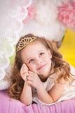 Λίγη πριγκήπισσα στο μπιζέλι Στοκ φωτογραφίες με δικαίωμα ελεύθερης χρήσης