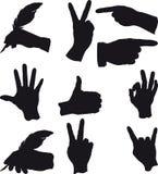 Λίγοι δίνουν τις χειρονομίες απεικόνιση αποθεμάτων