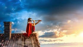 Λίγος έξοχος ήρωας Μικτά μέσα στοκ φωτογραφία με δικαίωμα ελεύθερης χρήσης
