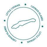 Λίγος διανυσματικός χάρτης Cayman διανυσματική απεικόνιση