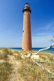 Λίγος κοκκώδης φάρος σημείου στους αμμόλοφους, που χτίζονται το 1867 στοκ εικόνα με δικαίωμα ελεύθερης χρήσης